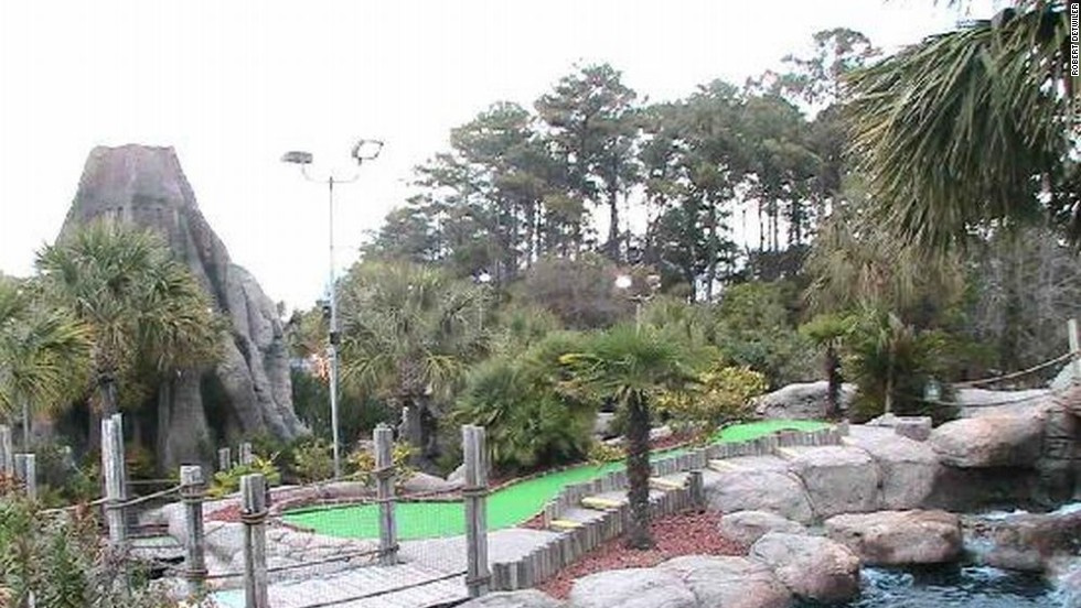 Waterfalls and palm trees also line the course, which Bob Detwiler opened in 1992.