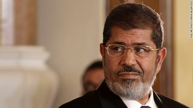 FILE: Egyptian President Mohamed Morsy at the presidential palace in Cairo, Egypt on July 13, 2012.