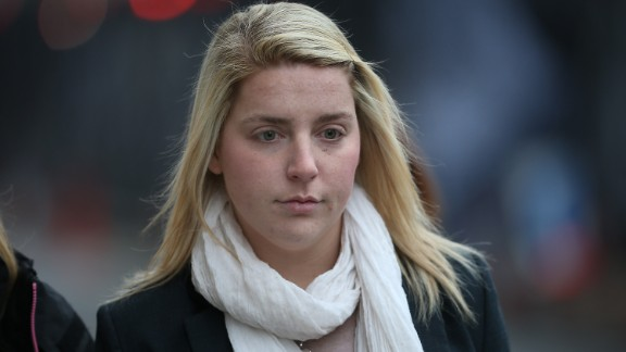 Aimee West, fiance of murdered fusilier Lee Rigby arrives at the Central Criminal Court in London on December 17.