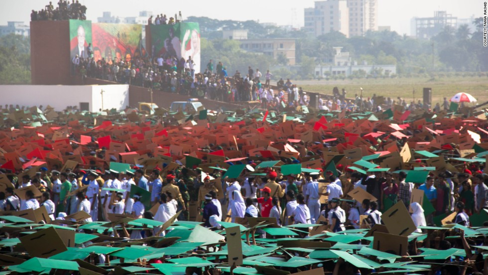 "The red of the Bangladesh flag symbolizes ""the rising sun of a new country""."