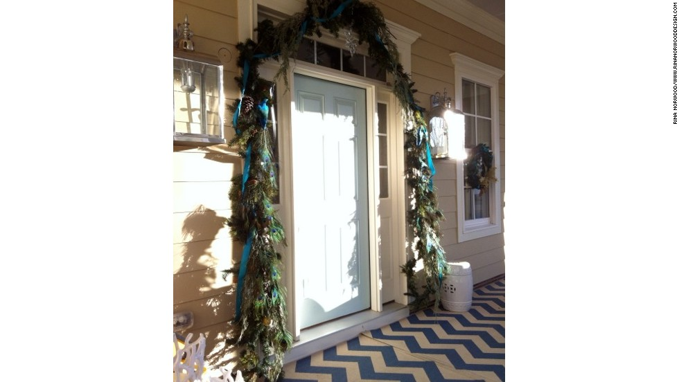 Norwood's front door gives a decorating hint to what's inside the house.