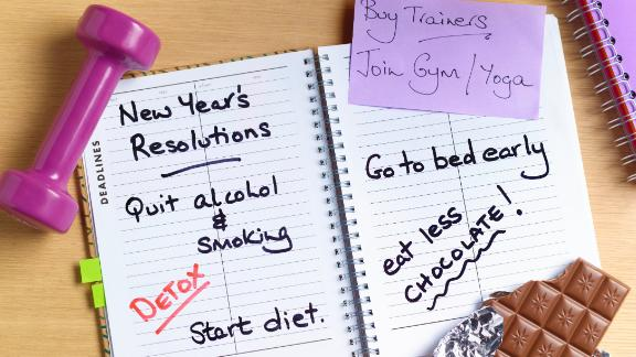 Healthy new years resolutions diary