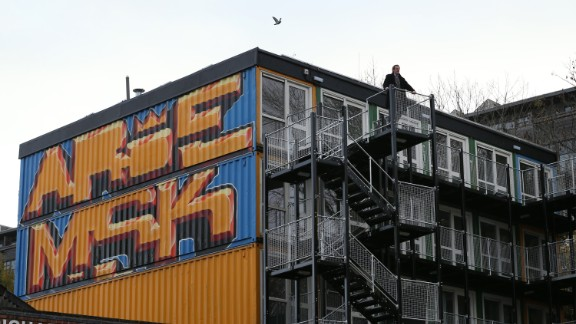 A group of 36 shipping containers has been transformed into urban living space in Brighton, England.