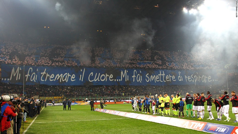 .The San Siro becomes a wall of color and noise when the two bitter rivals meet, but as they prepare to clash for the first time this season on Sunday, the Italian league has decreed part of the stadium will be closed.
