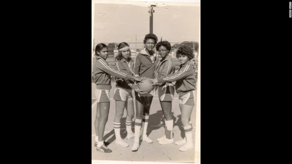 The Compton, California, native also was on her junior high school basketball team before going on to play in high school and college.