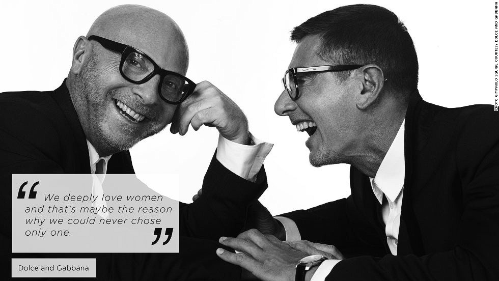 "<em>Domenico Dolce and Stefano Gabbana, fashion designers</em><br /><br />The famous Italian fashion duo Dolce and Gabbana say they don't have one specific muse, but draw inspiration from daily life, people they see walking down the street, books and songs. ""But you need to have a special eye to catch it, because it goes beyond the surface of things,"" they explain.<br /><br />When it comes to personalities they admire, they all share one trait: ""Attitude is for us a very important aspect of a woman - and a man for all that matters."""