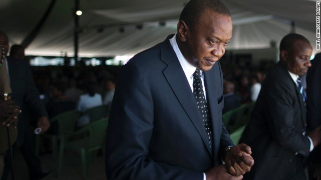 Kenya leader at ICC over violence charges