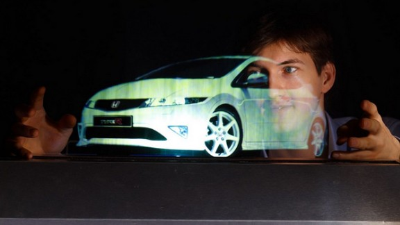 3-dimensional projections are created using infrared sensors.