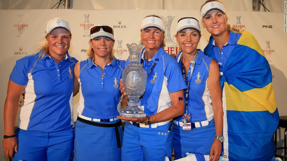 Europe's women triumphed on U.S. soil for the very first time to claim victory in the Solheim Cup. The visiting team won 18-10 thanks to a Swedish contingent which included Caroline Hedwall, Annika Sorenstam, Liselotte Neumann, Carin Koch and Anna Nordqvist.