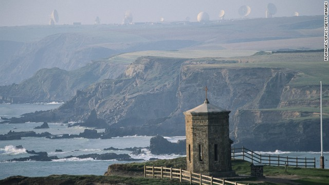 The town of Bude is known for its picturesque bays and a facility at the heart of a global eavesdropping network run by the NSA.
