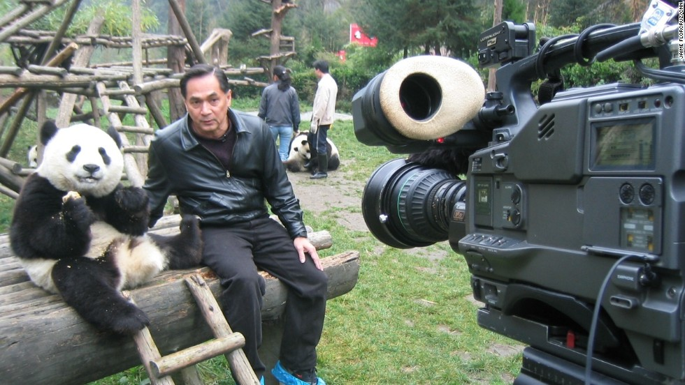 "FlorCruz ""interviews"" China's most popular icon in the panda nature reserve in Sichuan province."