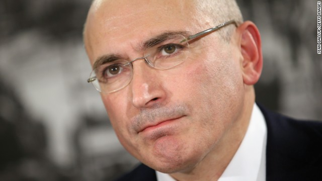 This file photo shows Mikhail Khodorkovsky at his first press conference since his release on December 22, 2013 in Germany.