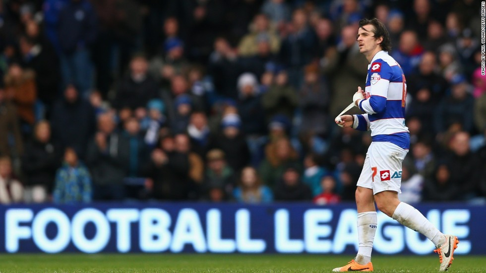 The squirrel was eventually removed from the pitch and he was soon joined by Joey Barton, who received a red card after being booked twice in a minute.