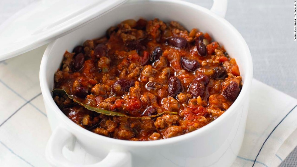 "If soup is filling and protein builds muscle, then chili has all that and more. The combination of the fiber from the tomatoes and the protein from the beans and beef and prevents overeating. Plus, capsaicin, the compound that gives cayenne, chili peppers, and jalapeños their heat, can also torch fat, says weight-loss specialist and board-certified internist Dr. Sue Decotiis. <br /><br />Spices trigger your sympathetic nervous system -- which is responsible for both the fight-or-flight response and spice-induced sweating -- to increase your daily calorie burn by about 50 calories, she says. That equals about 5 pounds lost over a single year. <br /><br /><a href=""http://www.health.com/health/recipe/0,,50400000124166,00.html"" target=""_blank"">Try this recipe: Chili from scratch</a>"