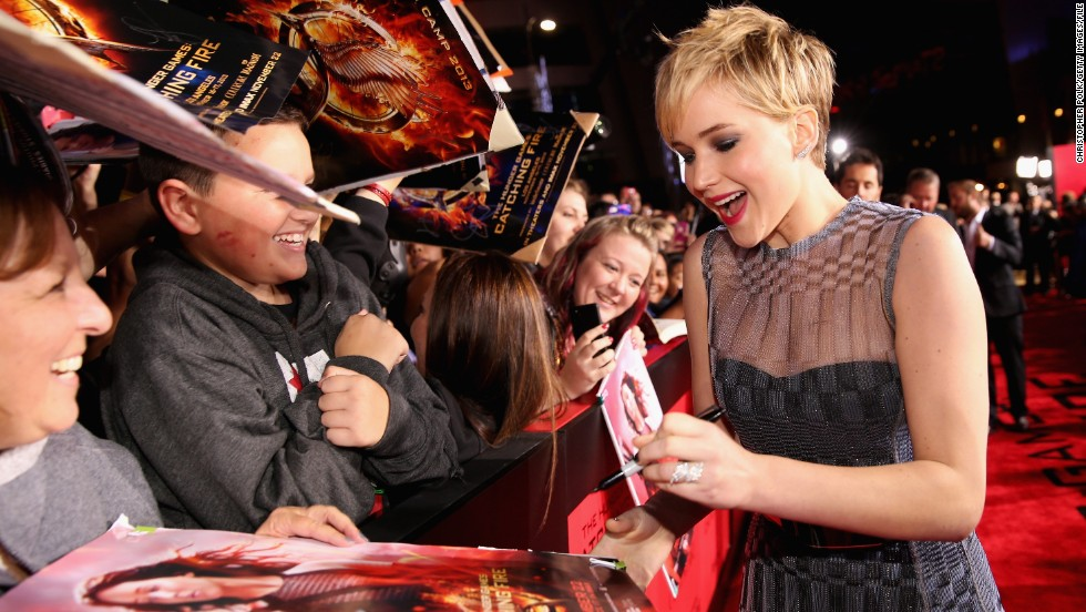 "<strong>Best year:</strong> Jennifer Lawrence seems to be unable to do any wrong. Hit films, award nominations, adorable appearances and just an all-around <a href=""http://www.cnn.com/2013/11/19/showbiz/celebrity-news-gossip/jennifer-lawrence-quotes-gallery/"">cool chick</a>."
