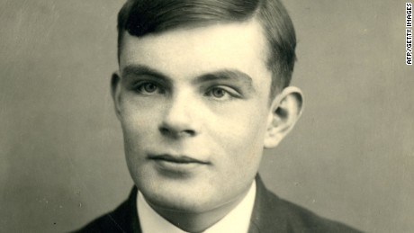 "This file handout picture released by Sherborne School on June 22, 2012 shows British mathematician Alan Turing at the school in Dorset, southwest England, aged 16 in 1928. Britain on December 24, 2013 granted a posthumous pardon to Alan Turing, the World War II code-breaking hero who committed suicide after he was convicted of the then crime of homosexuality. Turing is often hailed as a father of modern computing and he played a pivotal role in breaking Germany's ""Enigma"" code, an effort that some historians say brought an early end to World War II."