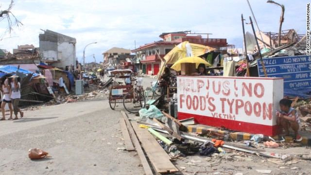 Desperation in the streets of the Philippines, weeks after Typhoon Haiyan practically leveled  parts of the country.