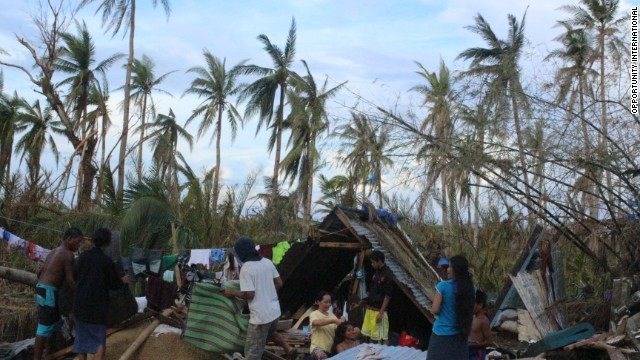 Jovanna Pardilla's community of Palo on the island of Leyte is trying to rebuild with very few resources.