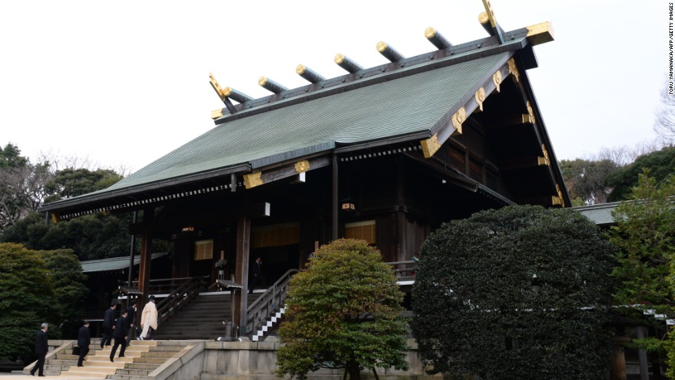 The  Yasukuni Shrine contains 2.4 million names, but among them are 14 who were found guilty of war crimes during World War II. The site remains sensitive to Japan's neighbors who view it as a symbol of Japan's imperial military past.