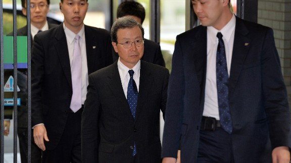 Chinese ambassador to Japan Cheng Yonghua enters the Japanese foreign ministry to meet with Japan's foreign ministry in Tokyo. China along with the Koreas, view the Yasukuni visits as honoring war crimes and denying Japan's past atrocities in which millions died.