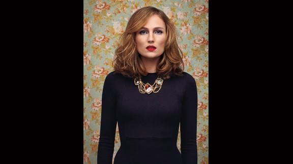 Alexis Bittar necklace, Zara dress.