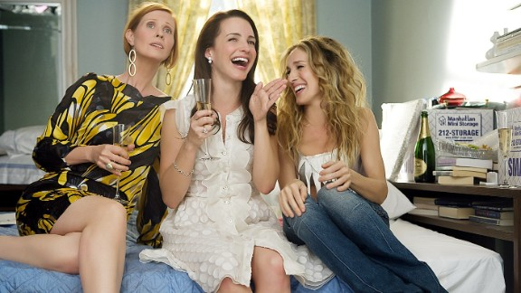 """Cynthia Nixon, Kristin Davis and Sarah Jessica Parker in """"Sex and the City: The Movie."""""""