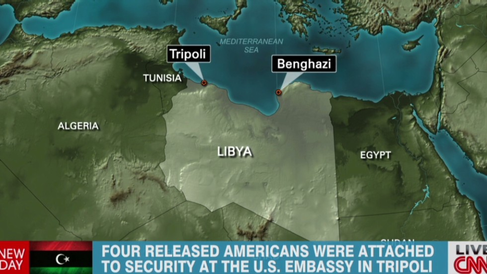 Official: 4 U S  military personnel detained by Libya released - CNN