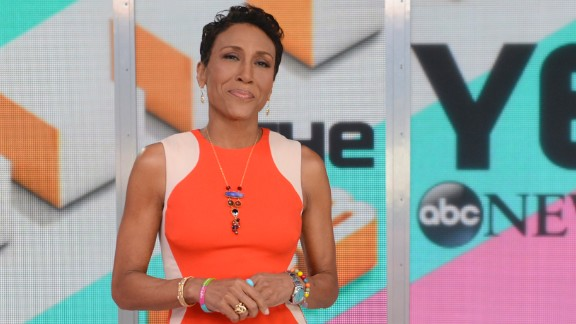 "In December 2013, ""Good Morning America"" anchor Robin Roberts came out as a lesbian in a Facebook post reflecting on the past year and thanking fans for their support after her bone marrow transplant. It was also the first public acknowledgment of her partner, Amber Laign. ""I am grateful for my entire family, my longtime girlfriend Amber, and friends as we prepare to celebrate a glorious new year together,"" Roberts wrote."