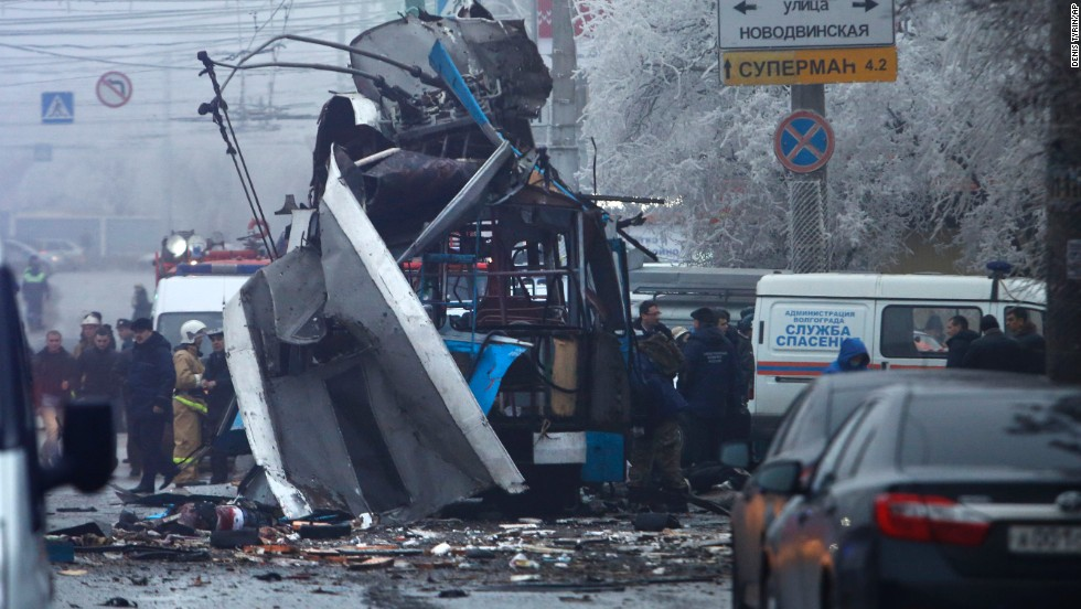 A bomb blast tore through a trolleybus in Volgograd, Russia, on Monday, December 30, a day after a suicide bombing at the city's main railway station.