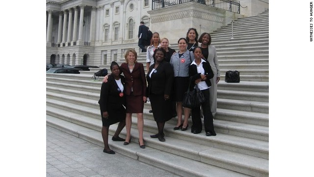 Gaines-Turner, center, and members of Witnesses to Hunger went to Capitol Hill to lobby members of Congress.