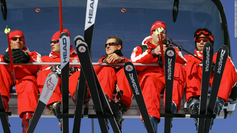 "Schumacher (center) on a ski lift at the Madonna di Campiglio resort in January 2006. Langran says that over the past decade about 41.5 people have died skiing/snowboarding per year in the U.S. on average. ""During the 2010/11 season, 47 fatalities occurred out of the 60.5 million skier/snowboarder days reported for the season,"" he added."