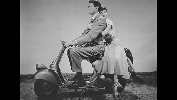 """""""Roman Holiday"""" -- This 1953 classic starred Audrey Hepburn as a pampered princess visiting Italy and Gregory Peck as the reporter who charms her."""