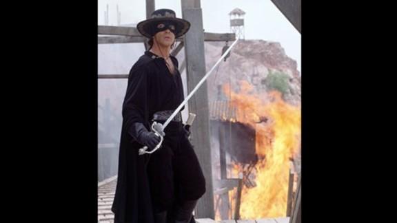 """The Mask of Zorro"" -- Antonio Banderas starred in this 1998 swashbuckler."