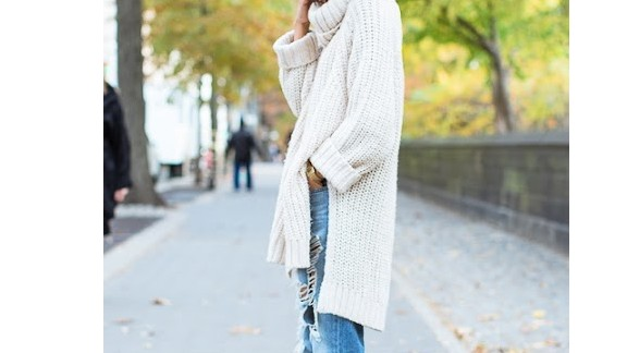 """""""You can never have too many chunky beige sweaters come fall in New York City,"""" Lloyd says."""