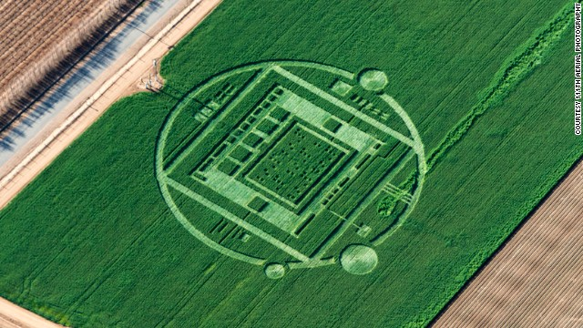 Crop circle spotted in California