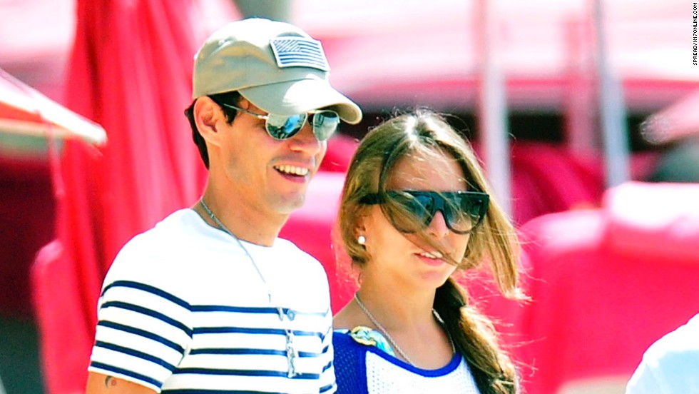Marc Anthony and Chloe Green enjoying their time in Barbados on December 31.