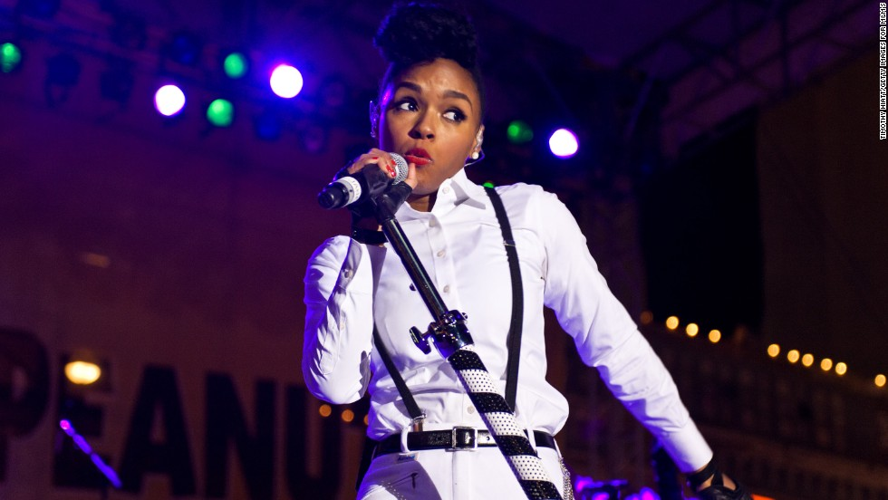 "Janelle Monae ring in the ""Year Of Peanut"" on January 1 in Atlanta, Georgia."