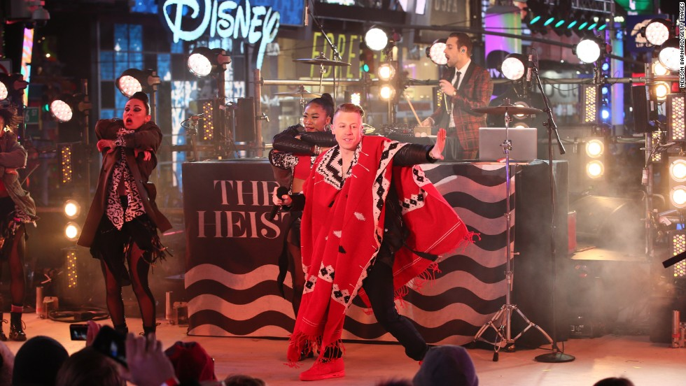 Macklemore & Ryan Lewis perform at The New Year's Eve 2014 Celebration in Times Square on December 31.