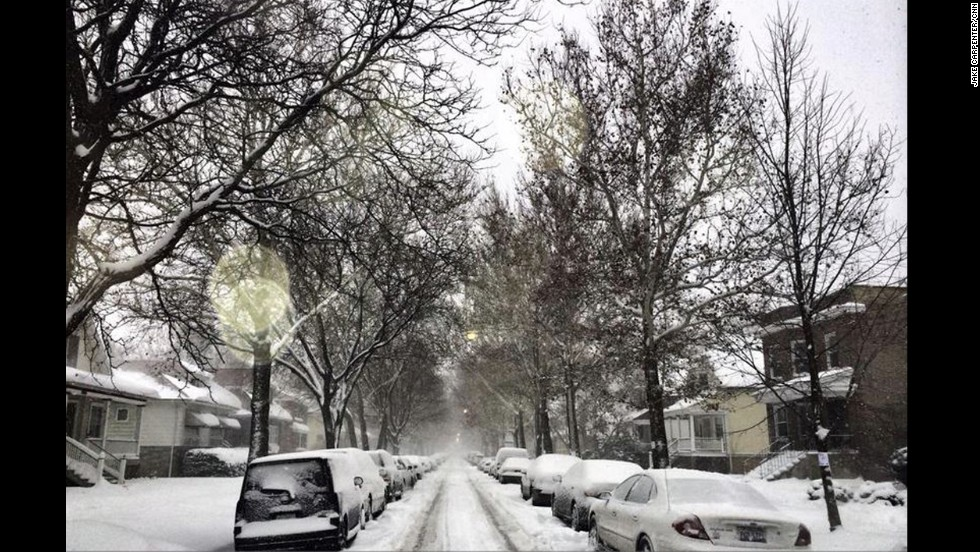CNN photojournalist Jake Carpenter posted this picture of Chicago's North Sawyer Avenue on January 3.