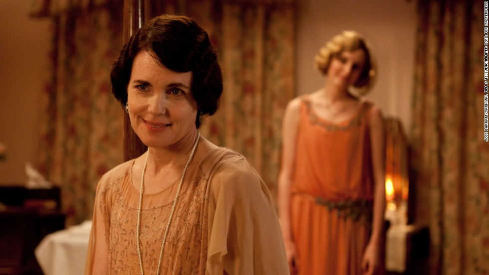 Cora (Elizabeth McGovern) plays Lady Grantham, whose kind-heartedness is a counterpart to Robert's bluster.