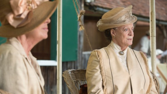 """<strong>Outstanding performance by a female actor in a drama series: </strong>Maggie Smith, """"Downton Abbey"""""""