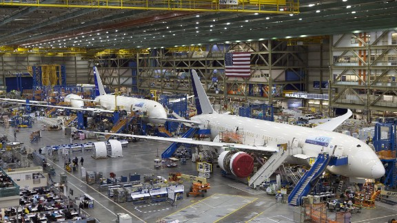 """Boeing offers a <a href=""""http://www.boeing.com/boeing/commercial/tours/index.page"""" target=""""_blank"""" target=""""_blank"""">public tour </a>of its assembly plant in Everett, Washington. It's the largest building in the world by volume, covering <a href=""""http://www.boeing.com/boeing/commercial/tours/gw.page?"""" target=""""_blank"""" target=""""_blank"""">98.3 acres. About 110,000 visitors tour the factory every year</a>."""