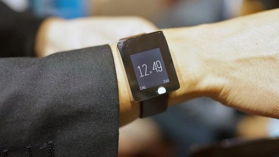 The Wellograph is a fitness tracker disguised as a normal men's watch. The back of the watch face has sensors for tracking the wearer's heartbeat.