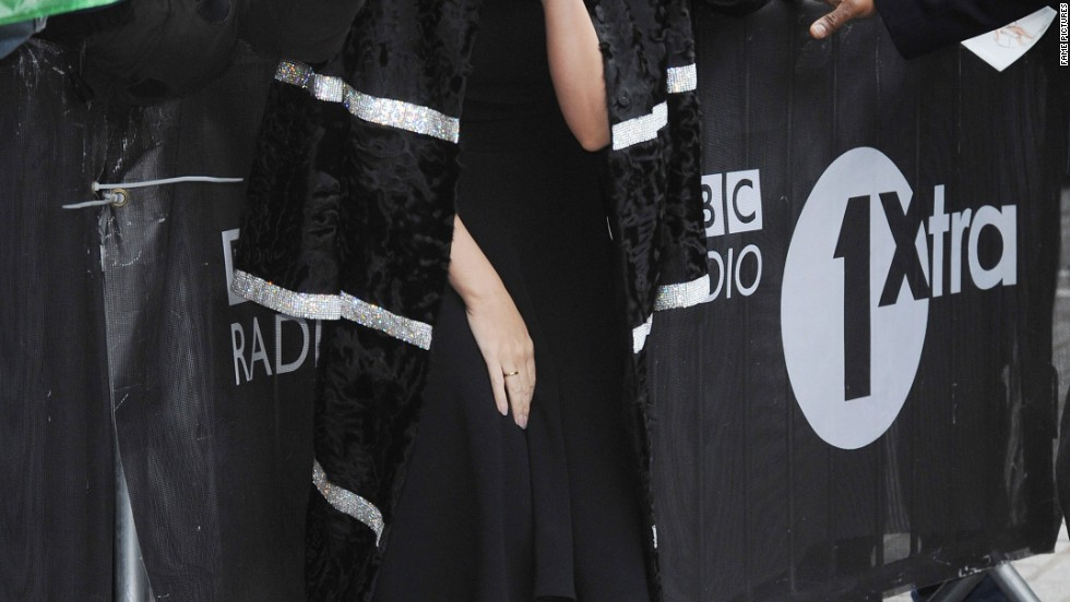 Kylie Minogue arrives in peace at BBC Radio One in London on January 6.