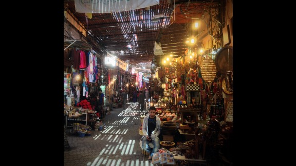 The aviation sector makes up 5% of Morocco's exports, and the country is home to about 100 aeronautic and aerospace companies. While the tourist industry counts for a significant chunk of employment especially in cities like Marrakesh, whose atmospheric souk is shown here, the airline sector employed around 8,000 people in 2013. .