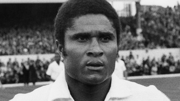 Born in Mozambique, which was under Portuguese rule at the time, Eusebio moved to Lisbon to play for Benfica. It was there that he won 11 league titles,five national cups and the 1962 European Cup. He scored 733 goals in 745 matches.