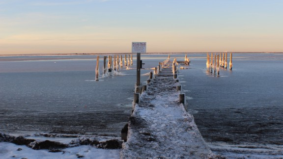 The frigid weather inspired photographer Tanya Fuchs to take her camera out around her neighborhood in Fire Island, New York, on Saturday, January 4.