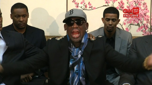 Rodman fiery on Kenneth Bae question