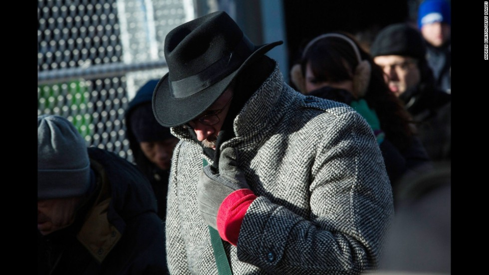 A man bundles up against the cold in New York City on January 7.
