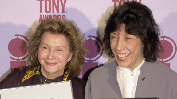Columnist Liz Smith broke the news that actress Lily Tomlin, right, rang in 2014 by marrying Jane Wagner, her partner of 42 years, on New Year's Eve.